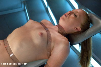 Photo number 8 from Bondage and Orgasms: Athletic Ginger Babe Machine Fucked in Rope shot for Fucking Machines on Kink.com. Featuring Ami Emerson in hardcore BDSM & Fetish porn.