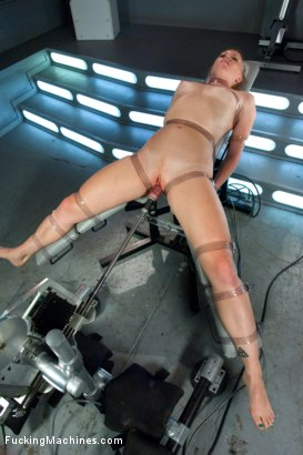 Photo number 2 from Bondage and Orgasms: Athletic Ginger Babe Machine Fucked in Rope shot for Fucking Machines on Kink.com. Featuring Ami Emerson in hardcore BDSM & Fetish porn.