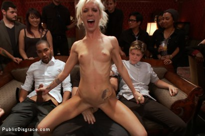 Photo number 14 from Princess Donna Throws a B-Day Party Full of Sex, Bondage & Humiliation shot for Public Disgrace on Kink.com. Featuring Mark Davis, Maia Davis and Princess Donna Dolore in hardcore BDSM & Fetish porn.