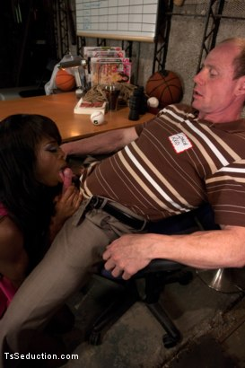 Photo number 2 from Turning out a Pig: TS Bambi Seduces the Creepy Coach at the Reunion shot for TS Seduction on Kink.com. Featuring Bambi Prescott and Big Red in hardcore BDSM & Fetish porn.