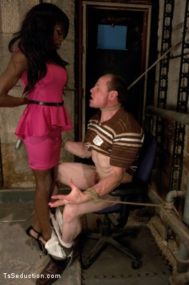 Photo number 3 from Turning out a Pig: TS Bambi Seduces the Creepy Coach at the Reunion shot for TS Seduction on Kink.com. Featuring Bambi Prescott and Big Red in hardcore BDSM & Fetish porn.