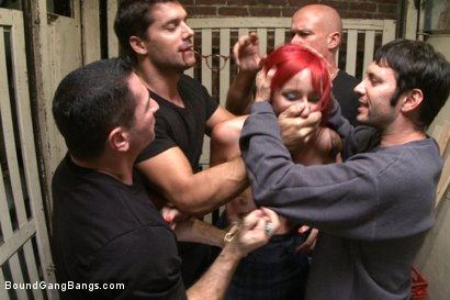 Photo number 1 from Art Student Gangbang in Freight Elevator shot for Bound Gang Bangs on Kink.com. Featuring Ramon Nomar, Mark Davis, John Strong, Phoenix Askani and Tommy Pistol in hardcore BDSM & Fetish porn.