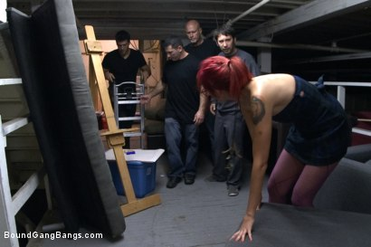 Photo number 2 from Art Student Gangbang in Freight Elevator shot for Bound Gang Bangs on Kink.com. Featuring Ramon Nomar, Mark Davis, John Strong, Phoenix Askani and Tommy Pistol in hardcore BDSM & Fetish porn.