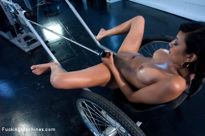 Photo number 3 from DOUBLE UPDATES: Loaded Gun Girl Fires off Some Machine Gun Orgasms! shot for Fucking Machines on Kink.com. Featuring Beretta James in hardcore BDSM & Fetish porn.
