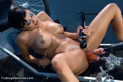Photo number 10 from DOUBLE UPDATES: Loaded Gun Girl Fires off Some Machine Gun Orgasms! shot for Fucking Machines on Kink.com. Featuring Beretta James in hardcore BDSM & Fetish porn.
