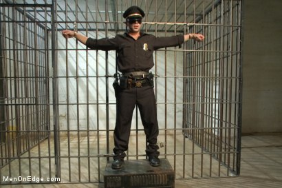 Photo number 2 from Edging A Straight Cop shot for Men On Edge on Kink.com. Featuring Chris Tyler in hardcore BDSM & Fetish porn.
