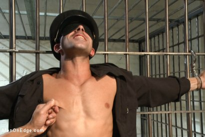 Photo number 3 from Edging A Straight Cop shot for Men On Edge on Kink.com. Featuring Chris Tyler in hardcore BDSM & Fetish porn.