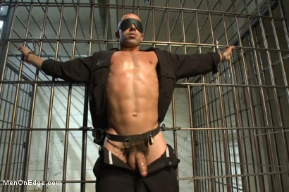 Photo number 6 from Edging A Straight Cop shot for Men On Edge on Kink.com. Featuring Chris Tyler in hardcore BDSM & Fetish porn.