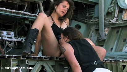 Photo number 6 from The Return of Post Apocalyptic Cow Girls  shot for Bleu Films on Kink.com. Featuring Surgeon Scofflaw, Lady Sophia, Arcana and Billy Rough in hardcore BDSM & Fetish porn.