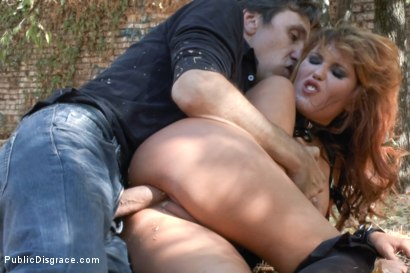 Photo number 8 from Cum Guzzling Euro trash Whore, Hanna Montada, gets fucked like a sex doll in busy urban Madrid shot for Public Disgrace on Kink.com. Featuring Omar Galanti, Steve Holmes and Hanna Montada in hardcore BDSM & Fetish porn.