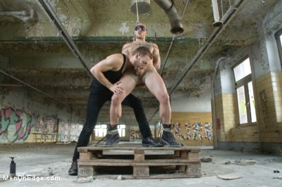 Photo number 4 from Straight German stud gets edged while his girlfriend watches shot for Men On Edge on Kink.com. Featuring Kris Hooliwood in hardcore BDSM & Fetish porn.