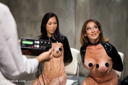 Photo number 13 from She Said/She Said An Electrosluts Feature Presentation shot for Electro Sluts on Kink.com. Featuring Tia Ling and Felony in hardcore BDSM & Fetish porn.