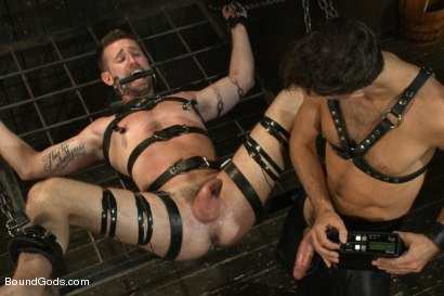 Photo number 10 from Master Avery ties up, torments, zips, zaps, flogs and fucks his boy shot for Bound Gods on Kink.com. Featuring Troy Daniels and Master Avery in hardcore BDSM & Fetish porn.