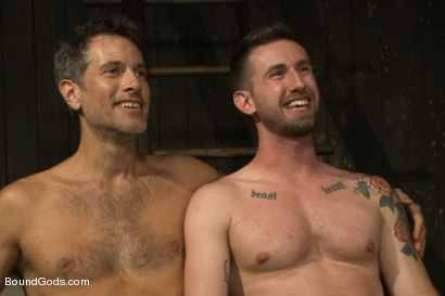 Photo number 15 from Master Avery ties up, torments, zips, zaps, flogs and fucks his boy shot for Bound Gods on Kink.com. Featuring Troy Daniels and Master Avery in hardcore BDSM & Fetish porn.