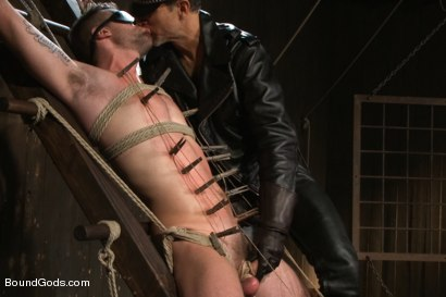 Photo number 4 from Master Avery ties up, torments, zips, zaps, flogs and fucks his boy shot for Bound Gods on Kink.com. Featuring Troy Daniels and Master Avery in hardcore BDSM & Fetish porn.