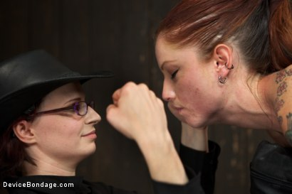 Photo number 9 from Tricia Oaks - Unbreakable shot for Device Bondage on Kink.com. Featuring Mz Berlin, Romona Vaine and Tricia Oaks in hardcore BDSM & Fetish porn.