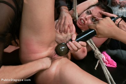 Photo number 11 from Penthouse Pet, Bound, Ass Fucked & Fisted, DP'ed, Made to Squirt  shot for Public Disgrace on Kink.com. Featuring Brandy Aniston and Astral Dust in hardcore BDSM & Fetish porn.