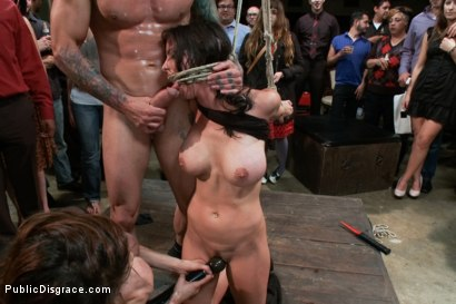 Photo number 6 from Penthouse Pet, Bound, Ass Fucked & Fisted, DP'ed, Made to Squirt  shot for Public Disgrace on Kink.com. Featuring Brandy Aniston and Astral Dust in hardcore BDSM & Fetish porn.