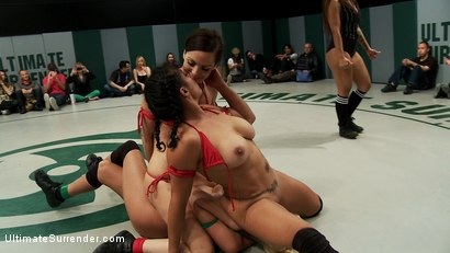 Photo number 11 from August Tag Team Match-Up! shot for Ultimate Surrender on Kink.com. Featuring DragonLily, Mistress Kara, Rain DeGrey, Katie Summers, Izamar Gutierrez, Bryn Blayne and Princess Donna Dolore in hardcore BDSM & Fetish porn.