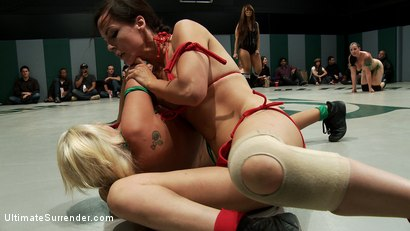 Photo number 4 from August Tag Team Match-Up! shot for Ultimate Surrender on Kink.com. Featuring DragonLily, Mistress Kara, Rain DeGrey, Katie Summers, Izamar Gutierrez, Bryn Blayne and Princess Donna Dolore in hardcore BDSM & Fetish porn.