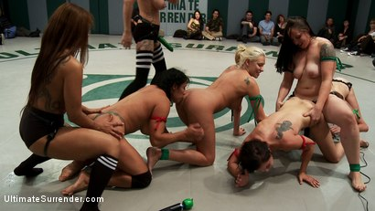 Photo number 2 from SAY IT BITCHES! Massive 7 Girl Orgy! Fisting, Squirting, Strap-on Sex! shot for Ultimate Surrender on Kink.com. Featuring DragonLily, Mistress Kara, Rain DeGrey, Katie Summers, Izamar Gutierrez, Bryn Blayne and Princess Donna Dolore in hardcore BDSM & Fetish porn.