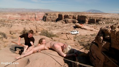 Photo number 12 from FEATURE SHOOT : WET ROCK CANYON shot for Hogtied on Kink.com. Featuring Danny Wylde, Penny Pax and Cherry Torn in hardcore BDSM & Fetish porn.