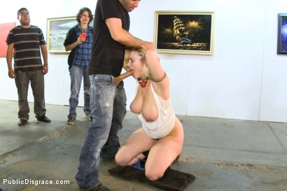 Photo number 3 from GIANT NATURAL TITS Put on Display and Violated at Art Gallery shot for Public Disgrace on Kink.com. Featuring Siri and James Deen in hardcore BDSM & Fetish porn.