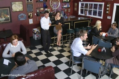 Photo number 2 from Innocent Christian Girl is Made to Give up her Virginity on Film shot for Bound Gang Bangs on Kink.com. Featuring Jodi Taylor, James Deen, John Strong, Danny Wylde and Mr. Pete in hardcore BDSM & Fetish porn.