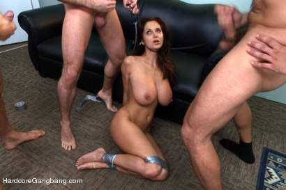 Photo number 14 from MILF with a tiny body and HUGE tits Gangbanged by Co-Workers shot for Hardcore Gangbang on Kink.com. Featuring Ava Addams, Danny Mountain, James Deen and Ramon Nomar in hardcore BDSM & Fetish porn.