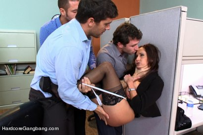 Photo number 3 from MILF with a tiny body and HUGE tits Gangbanged by Co-Workers shot for Hardcore Gangbang on Kink.com. Featuring Ava Addams, Danny Mountain, James Deen and Ramon Nomar in hardcore BDSM & Fetish porn.