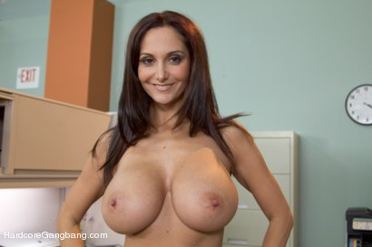 Photo number 15 from MILF with a tiny body and HUGE tits Gangbanged by Co-Workers shot for Hardcore Gangbang on Kink.com. Featuring Ava Addams, Danny Mountain, James Deen and Ramon Nomar in hardcore BDSM & Fetish porn.