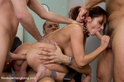 Photo number 9 from MILF with a tiny body and HUGE tits Gangbanged by Co-Workers shot for Hardcore Gangbang on Kink.com. Featuring Ava Addams, Danny Mountain, James Deen and Ramon Nomar in hardcore BDSM & Fetish porn.
