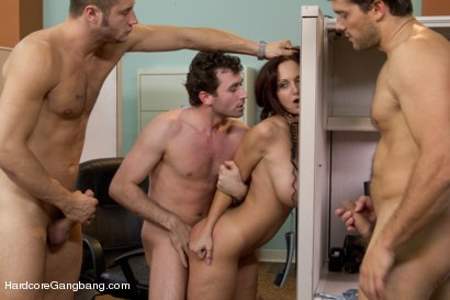 Photo number 10 from MILF with a tiny body and HUGE tits Gangbanged by Co-Workers shot for Hardcore Gangbang on Kink.com. Featuring Ava Addams, Danny Mountain, James Deen and Ramon Nomar in hardcore BDSM & Fetish porn.