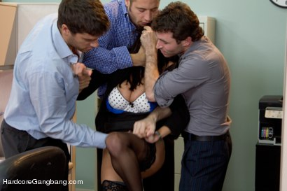 Photo number 2 from MILF with a tiny body and HUGE tits Gangbanged by Co-Workers shot for Hardcore Gangbang on Kink.com. Featuring Ava Addams, Danny Mountain, James Deen and Ramon Nomar in hardcore BDSM & Fetish porn.