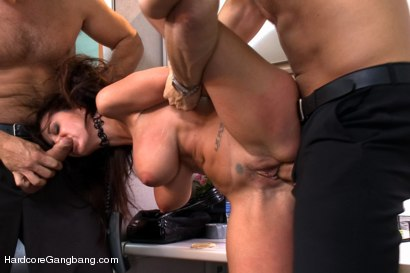 Photo number 5 from MILF with a tiny body and HUGE tits Gangbanged by Co-Workers shot for Hardcore Gangbang on Kink.com. Featuring Ava Addams, Danny Mountain, James Deen and Ramon Nomar in hardcore BDSM & Fetish porn.