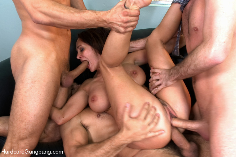 Valuable gangbang office sex