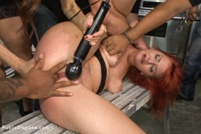 Photo number 4 from Strap-on Fucked and Fisted for the First Time in Public shot for Public Disgrace on Kink.com. Featuring Phoenix Askani and Mark Davis in hardcore BDSM & Fetish porn.