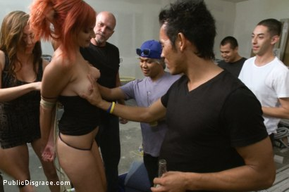 Photo number 2 from Strap-on Fucked and Fisted for the First Time in Public shot for Public Disgrace on Kink.com. Featuring Phoenix Askani and Mark Davis in hardcore BDSM & Fetish porn.
