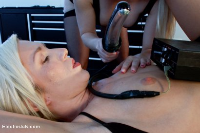 Photo number 15 from Another Hot Newbie having her First Electro Experience! shot for Electro Sluts on Kink.com. Featuring Aiden Starr and Maia Davis in hardcore BDSM & Fetish porn.