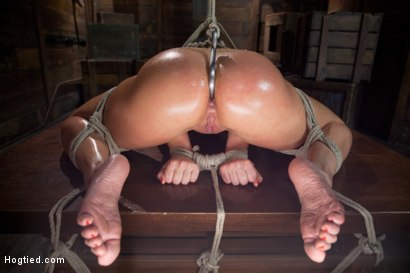 Photo number 8 from Two Cunts - One Game shot for Hogtied on Kink.com. Featuring Riley James and Lea Lexis in hardcore BDSM & Fetish porn.
