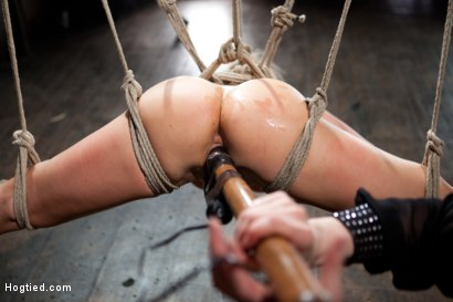 Photo number 11 from Two Cunts - One Game shot for Hogtied on Kink.com. Featuring Riley James and Lea Lexis in hardcore BDSM & Fetish porn.