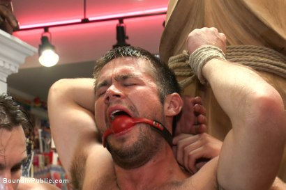 Photo number 7 from Mike de Marko bound, humiliated, fucked and beaten in public shot for Bound in Public on Kink.com. Featuring Mike de Marko and Phenix Saint in hardcore BDSM & Fetish porn.