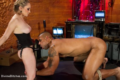 Photo number 11 from Not A Dry Cunt In The House: Episode 2 shot for Divine Bitches on Kink.com. Featuring Robert Axel and Aiden Starr in hardcore BDSM & Fetish porn.