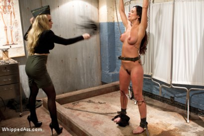 Photo number 5 from Former Contract Star Kirsten Price Violated and Double Penetrated! shot for Whipped Ass on Kink.com. Featuring Aiden Starr and Kirsten Price in hardcore BDSM & Fetish porn.