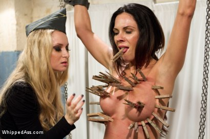 Photo number 4 from Former Contract Star Kirsten Price Violated and Double Penetrated! shot for Whipped Ass on Kink.com. Featuring Aiden Starr and Kirsten Price in hardcore BDSM & Fetish porn.