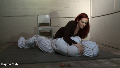 Photo number 1 from The Package shot for Captive Male on Kink.com. Featuring Mz Berlin and Lobo in hardcore BDSM & Fetish porn.