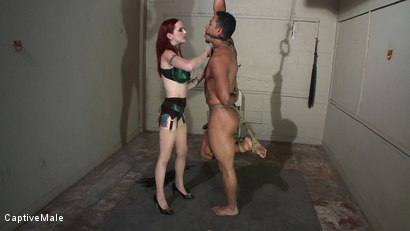 Photo number 12 from The Package shot for Captive Male on Kink.com. Featuring Mz Berlin and Lobo in hardcore BDSM & Fetish porn.