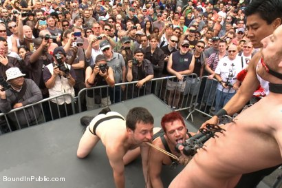 Photo number 1 from Naked and humiliated in front of thousands of people shot for Bound in Public on Kink.com. Featuring Master Avery, Jason Miller and Sebastian Keys in hardcore BDSM & Fetish porn.