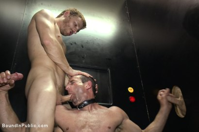 Photo number 12 from Naked Pandas Trick or Treat - Just in time for Halloween shot for Bound in Public on Kink.com. Featuring Master Avery, Jason Miller and Sebastian Keys in hardcore BDSM & Fetish porn.