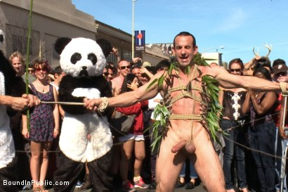 Photo number 5 from Naked Pandas Trick or Treat - Just in time for Halloween shot for Bound in Public on Kink.com. Featuring Master Avery, Jason Miller and Sebastian Keys in hardcore BDSM & Fetish porn.